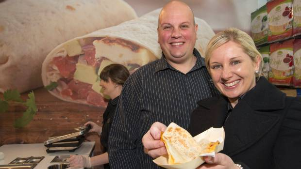 Jovan Čanak and his wife Farrah whose tortilla and wraps company Farrah's has bought Foodstuffs' Silverstream site.
