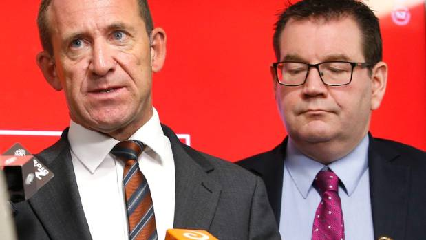 Andrew Little and Labour's finance spokesman Grant Robertson