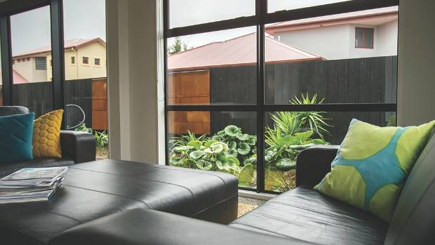 Living areas connect easily with the outdoors.