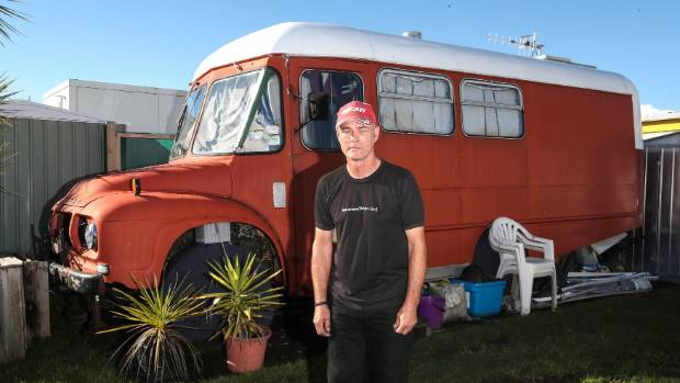 Jeffrey Whittingham has been evicted from Tahuna Holiday Park after living there for 7 and a half years.