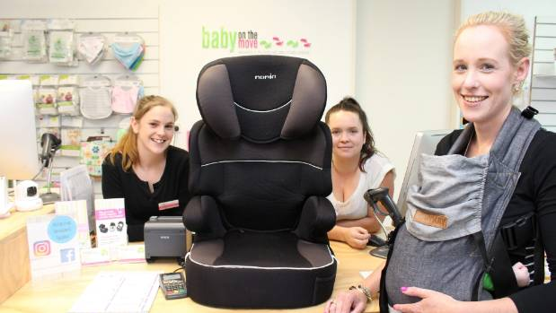There doesn't appear to be anything wrong with this car seat but the girls Karli Parsons, Sarah Bell, and Amy Attwood at ...