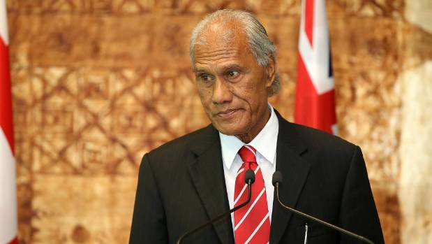 Tongan Prime Minister Samuela 'Akilisi Pohiva speaks to media at Government House on July 28, 2016 in Auckland, New Zealand.