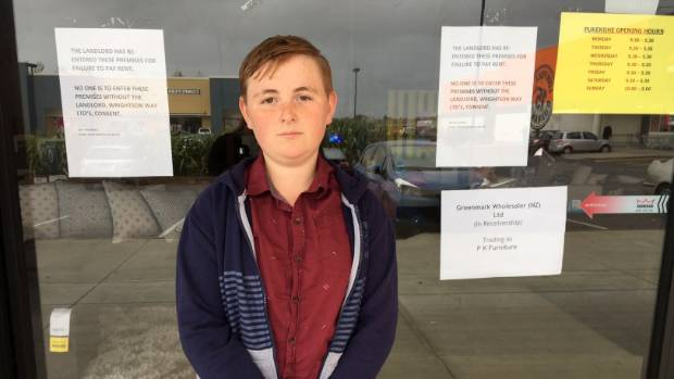 Aidan Toop, 12, is gutted at not receiving the bookcase bought for him for his birthday.
