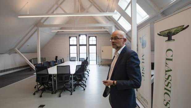 College of Arts deputy pro vice-chancellor professor Paul Millar in the school's attic level lecture space.