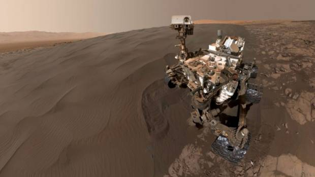 The curiosity rover, shown here taking a selfie, has given humans an enormous glimpse into life on the red planet.