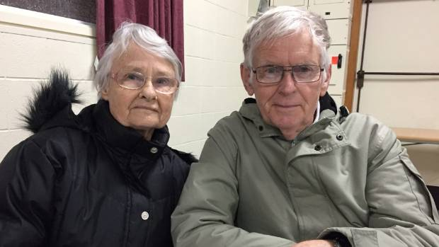 """Ngaire and Kevin Stubberfield are regulars at the Thursday meal.  They both agree the service is a """"very necessary"""" one ..."""