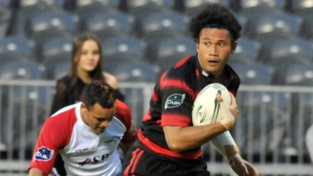 Casey Laulala, in action for Canterbury, against Tasman in 2008.