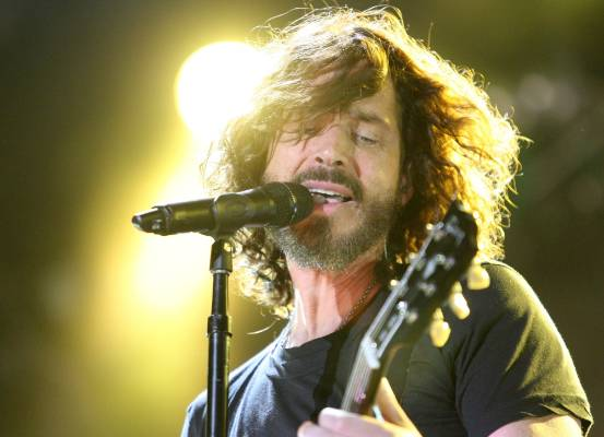Chris Cornell performs at the Big Day Out in Auckland in 2012.