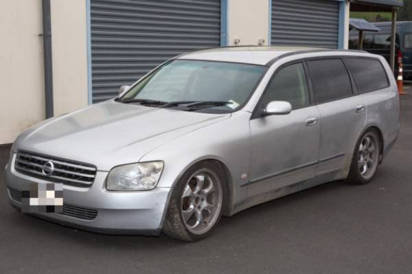 This silver Nissan Stagea was also seen on the night of the murder.