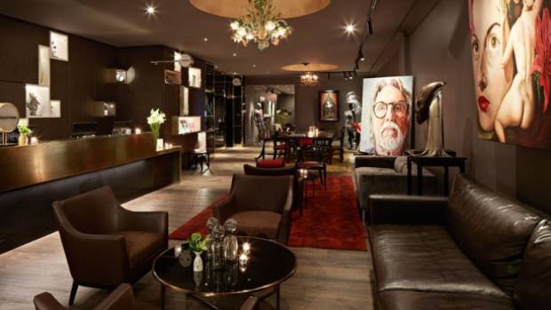 The QT Hotel in Wellington has a brain-bending art collection scattered throughout the hotel.