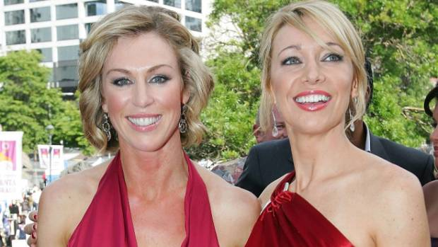 Wendy Petrie and Alison Mau at the Media Awards in 2007. Mau, right, doesn't miss those days dressing up for red carpet ...