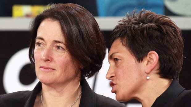 Silver Ferns coach Janine Southby, left, and assistant Yvette McCausland-Durie want greater consistency and less errors ...