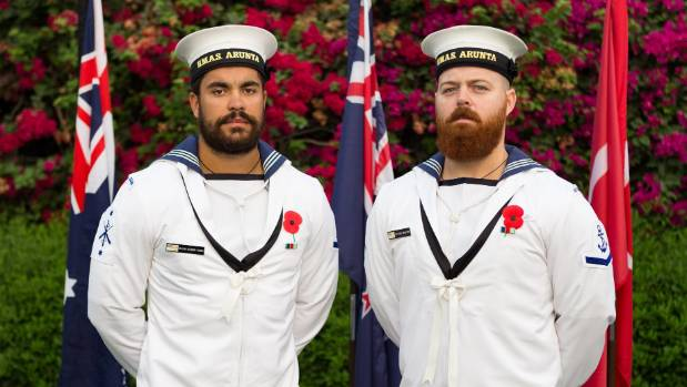 Leading Seaman Combat Specialists Dillon Dolman-Tuhou (left) and Hayden Newport played crucial roles in the drug bust.