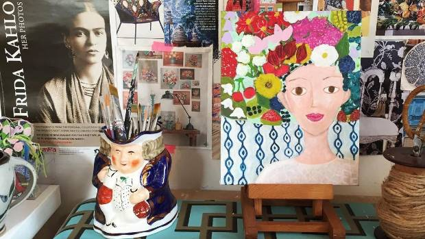 Joyful faces and plenty of flowers adorn Zana Lokmer's creations.