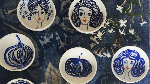 Lokmer's porcelain dishes are so popular she often has to repeat designs.