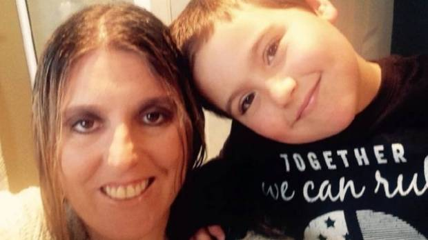 "Monique Patterson and her son Cael, 7. ""It's also okay to take a breather as a mother once in a while, and let your ..."
