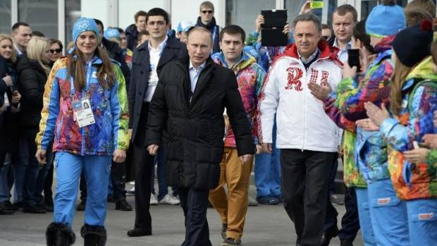Russian President Vladimir Putin was everywhere at the Sochi Olympics, cheering on his nation's athletes while team ...