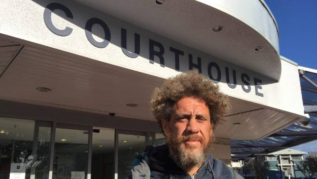 Myles Hemopo, one of three Napier men to have been charged in connection with begging in the city.