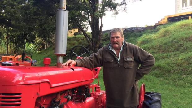 Snow Harrison in Utakura Valley, with his 1946 Farmall B tractor that will feature in the 150th commemorations of Okaihau.