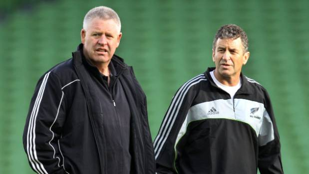 Wayne Smith has been on countless overseas tours. Here he is with Steve Tew on the field during the Captains Run at ...