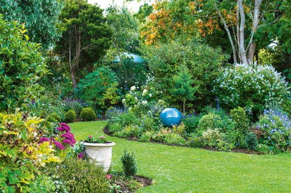 Award-winning landscape architect Sally Brown planted her Dunedin garden for colour and diversity.