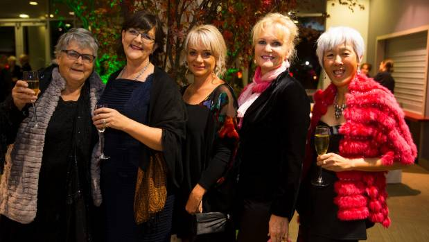 Celebrating at the Claudelands events were, from left, Pat Baker, Jolanda Lemow, Sam Ware, Sharon Honiss and Nancy Caiger.