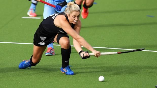 Rachel McCann scored twice against India in the fourth test of their women's international hockey series in Hamilton.