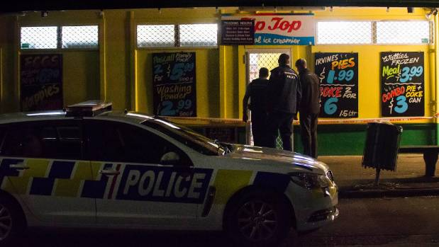 Police investigate a robbery at a dairy on Rangiora Ave, Palmerston North.