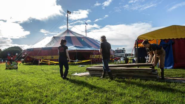 Aotearoa Circus arrived in New Plymouth on Friday where they will perform a number of shows during the week.