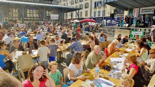 The Alternatiba festival in Bayonne, France, draws thousands of people in, and the hope is to have something similar in ...