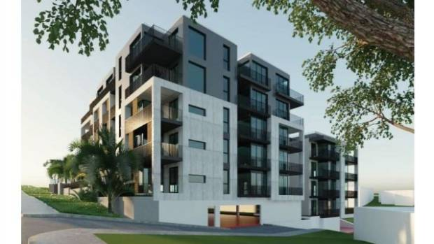 The proposal is for two separate five-storey blocks housing 53 units on Tennyson Ave in Takapuna.