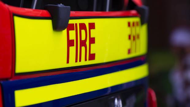 Two fire crews responded to the house fire.