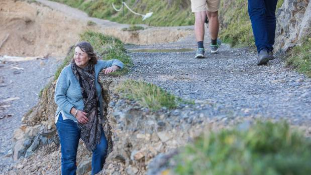 The first 500 metres of the Makara Beach track is severely eroded, with walkers urged to avoid it if possible.