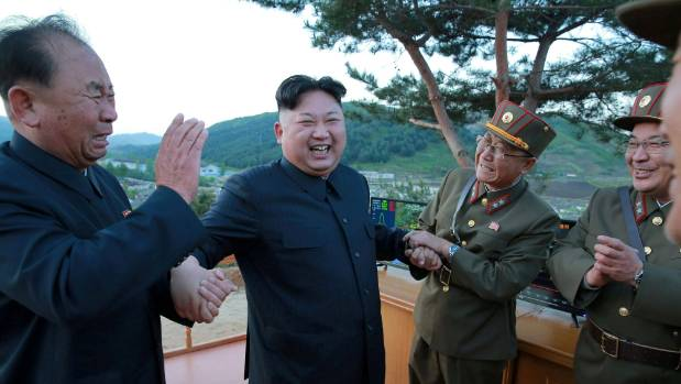 North Korean leader Kim Jong Un is thrilled at the success of the missile launch.
