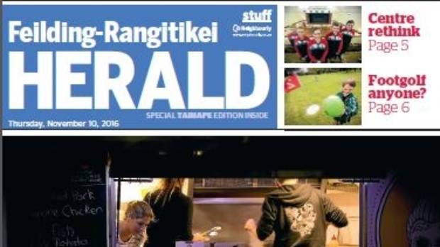 The Feilding-Rangitikei Herald has won Community Newspaper of the Year at the 2017 Canon Media Awards.