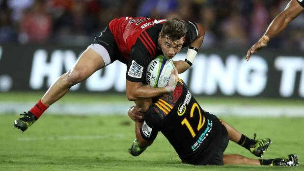 David Havili, who finished one of the tries if the season, helped the Crusaders remain unbeaten by beating the Chiefs in ...