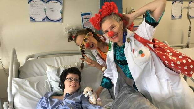 The Clown Doctors were the highlight of Zach Shanahan-Trainer's week-long stay in hospital, mother Jo said.