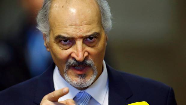 Syrian government negotiator Bashar Ja'afari says the US action caused a massacre.