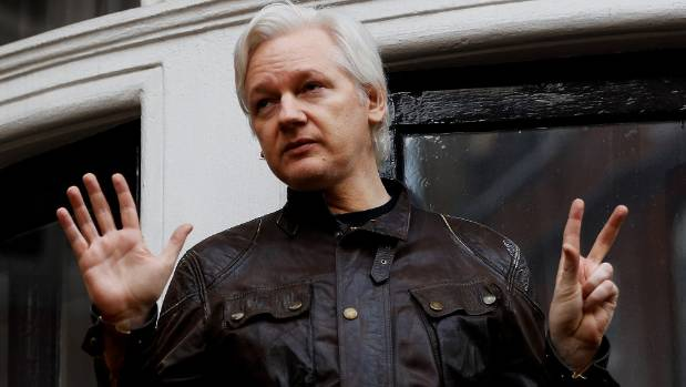 WikiLeaks founder Julian Assange speaks to media from the balcony of the Ecuadorian embassy in London after Swedish ...