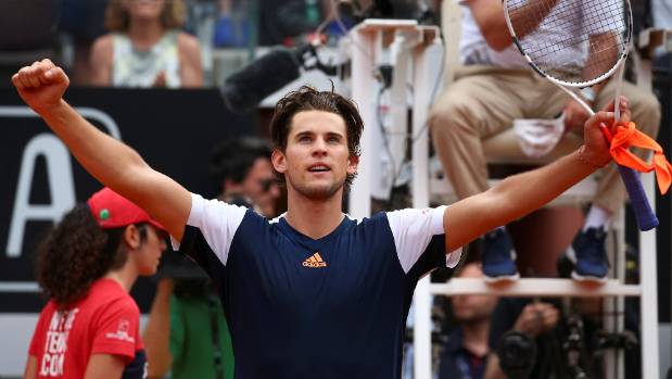 Austrian Dominic Thiem ended Rafa Nadal's clay-court winning streak at 17 matches with a straight sets victory.