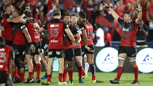 The Crusaders' remarkable winning run continued with victory over the Chiefs in Fiji on Friday night.