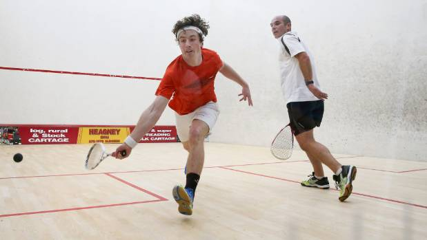 Quinn Udy, left, in action against George Crosby at the Marlborough champs.