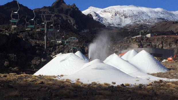 The snow piles in Whakapapa's Happy Valley!