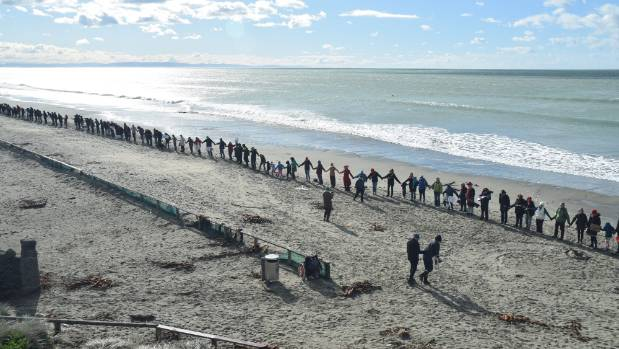 Hundreds of protesters braved the icy winds in Christchurch to stand up against deep sea oil drilling. Part of the ...