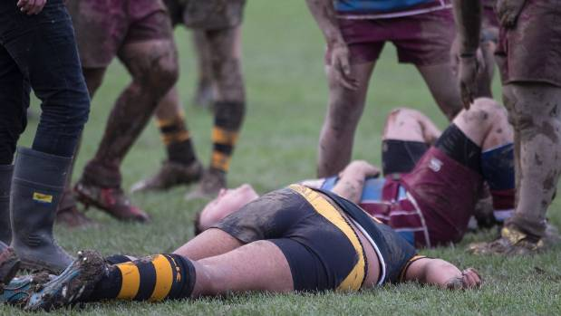 The game was called off early in the second half after another serious head injury.