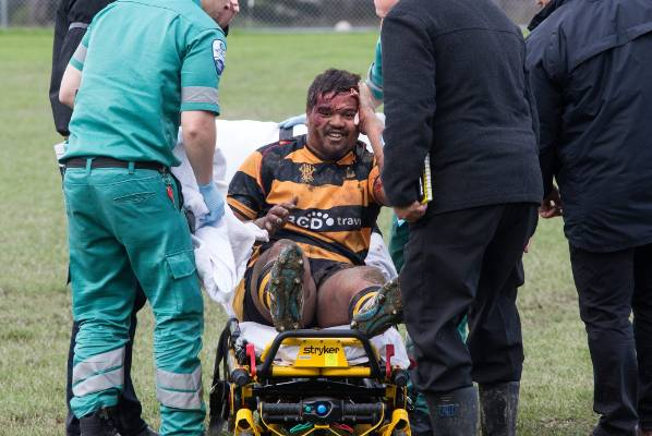 Teua Rawiri managed a smile after being treated by paramedics. He was released from hospital after an assessment.