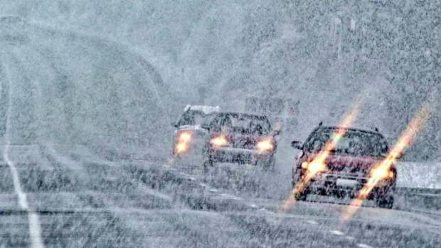 Snow on State Highway 94, between Mossburn and Te Anau, made driving conditions difficult on Saturday morning.