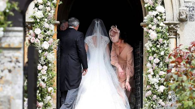 Pippa Middleton enters the wedding venue.