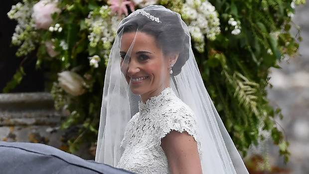 Pippa Middleton, the sister the Duchess of Cambridge, arrives for her wedding to James Matthews.