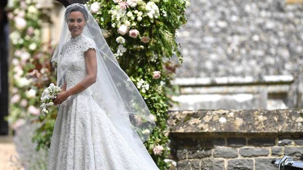 It won't be long before we're seeing copies of Pippa Middleton's beautiful Giles Deacon dress.